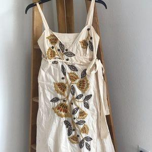 Joystick Embroidered Wrap Dress Size XS